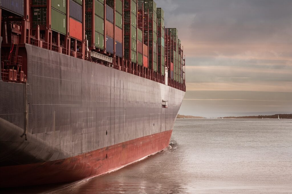 container, container ship, port